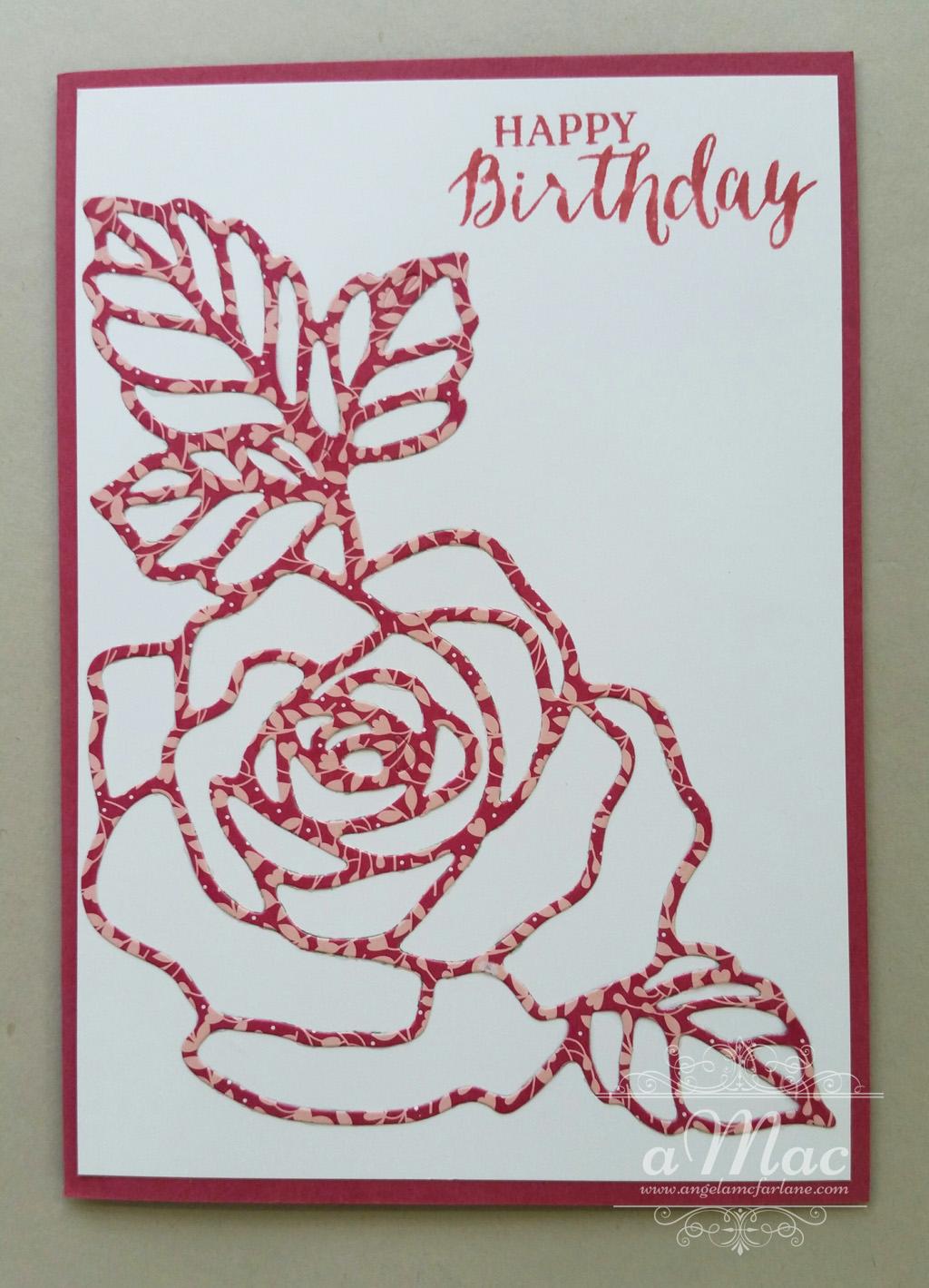 rose wonder birthday card  amac, Birthday card