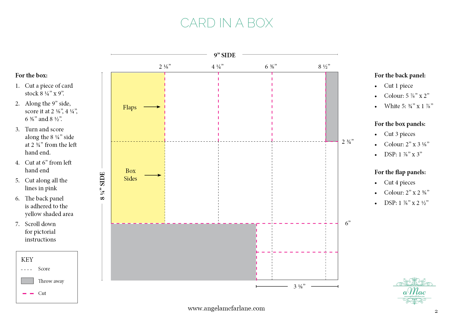 Card In A Box Instructions2