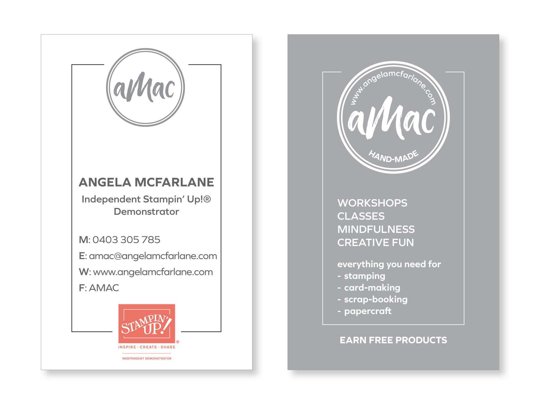 Website picsbusiness card amac published march 24 2018 at reheart Image collections